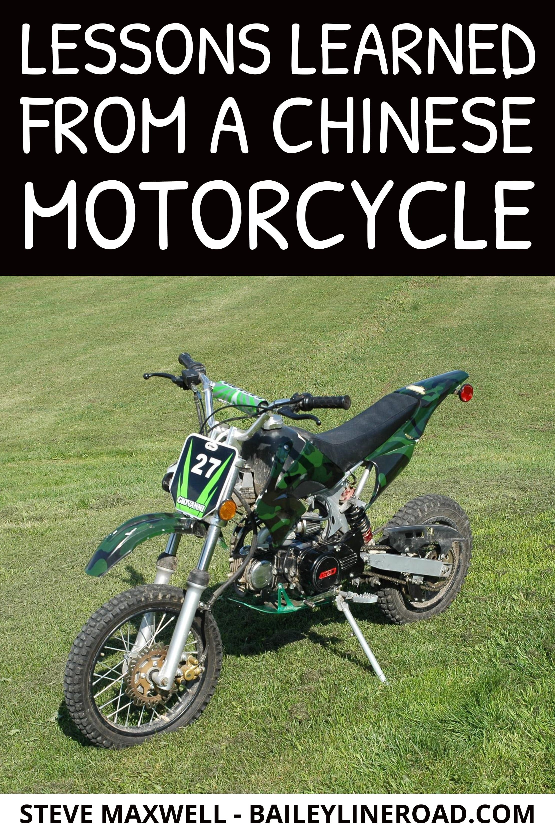 Lessons Learned From A Chinese Motorcycle Sometimes Little Things Really Matter Chinese Motorcycles Lessons Learned Motorcycle