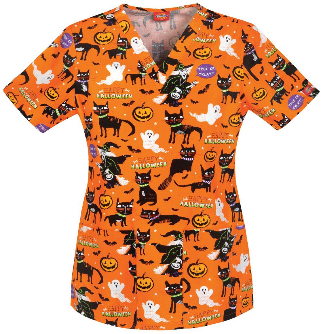 Cute for Halloween   Halloween scrubs top, Halloween ...