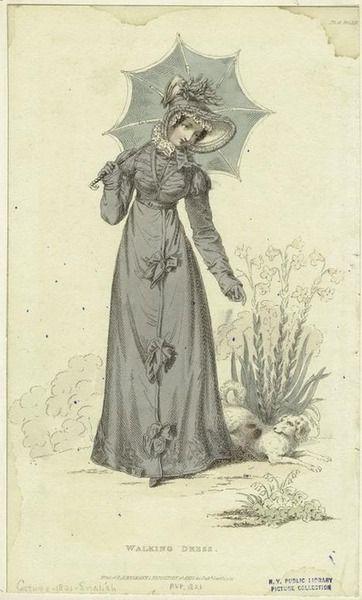 24-10-11  Walking dress ca. 1821