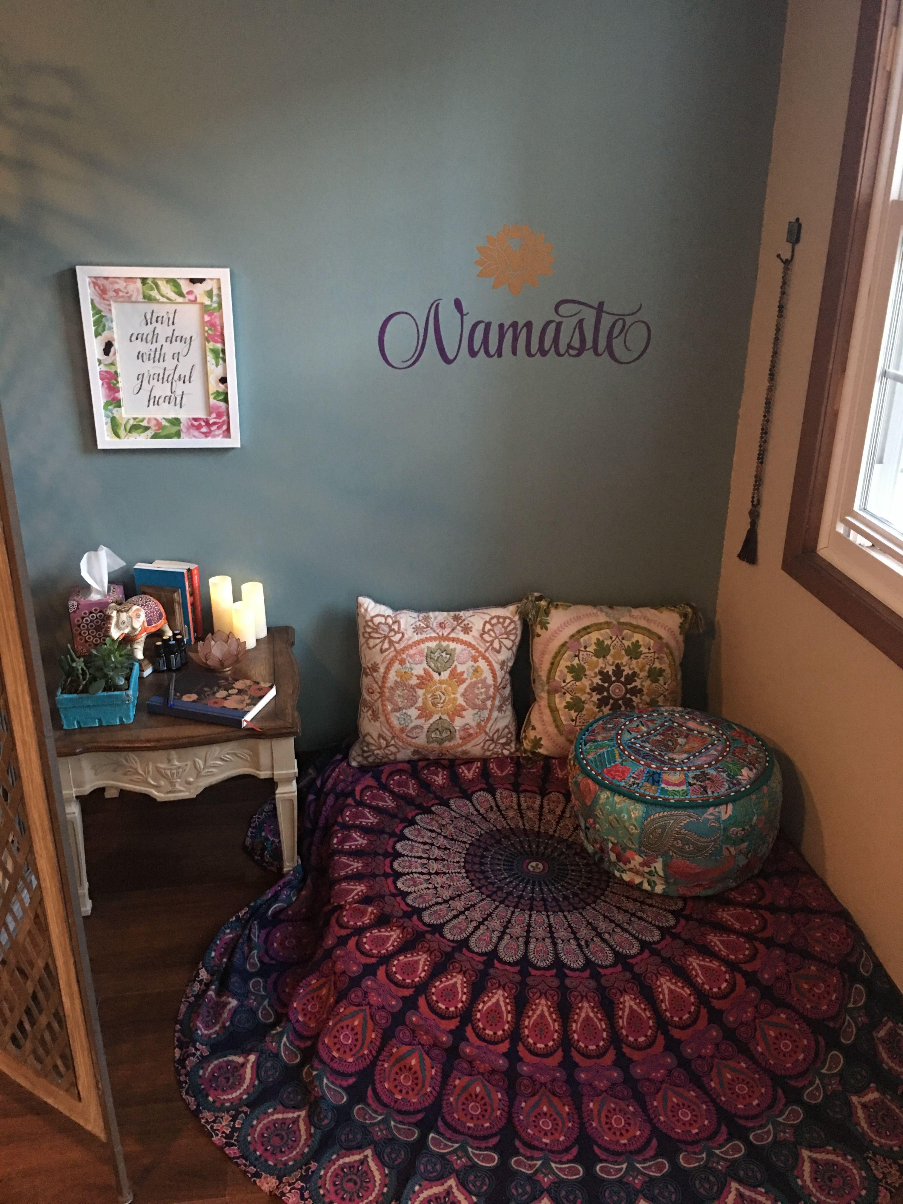 Meditation Corner Wellness Room Namaste