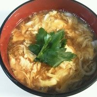 Udon with Thick Egg Soup