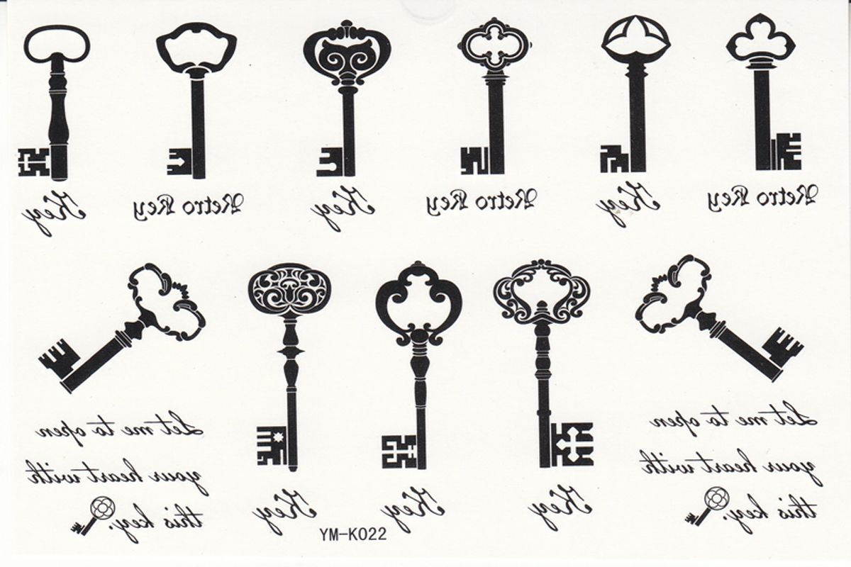 Wrist Key Tattoo Design