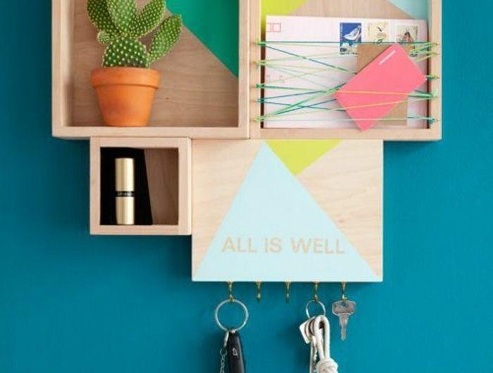 Farbige küchenwände ~ Wandfarben trends blau türkis regale farbige wände interieur