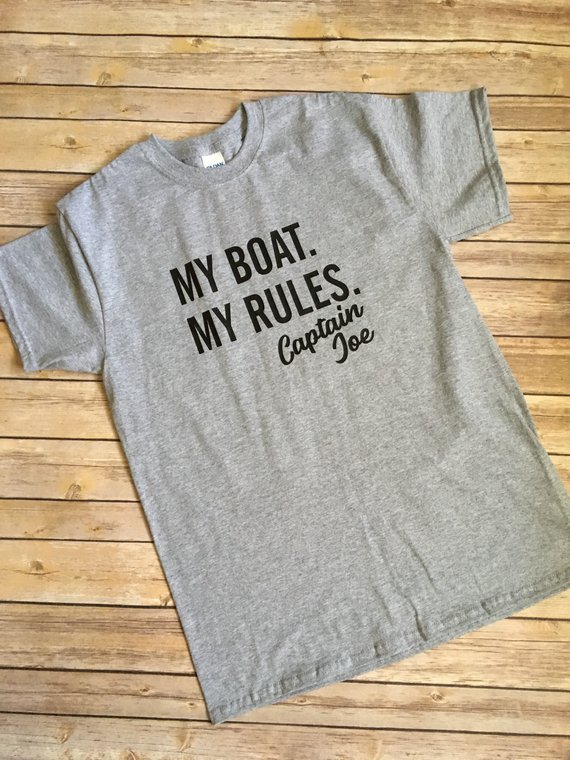 92b4d93b3 My Boat, My Rules Tee|Men's T-Shirt|Captain T-Shirt|Boat Captain shirt|Funny  TShirt|Boating Shirts|P