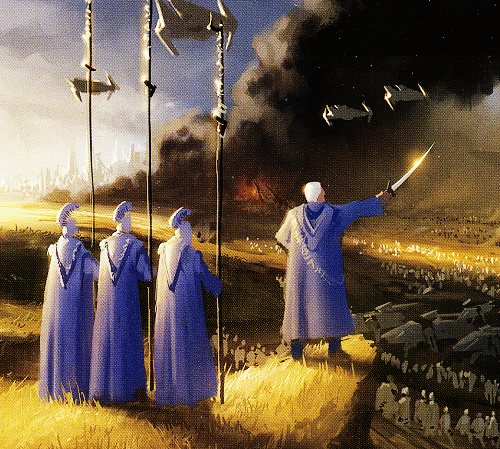 Concept Art Of Palpatine Leading Clone Troopers By Ryan Church Taken From The Making Of Revenge Of The Sith Http Starwarsvil Concept Art Love Stars Star Wars