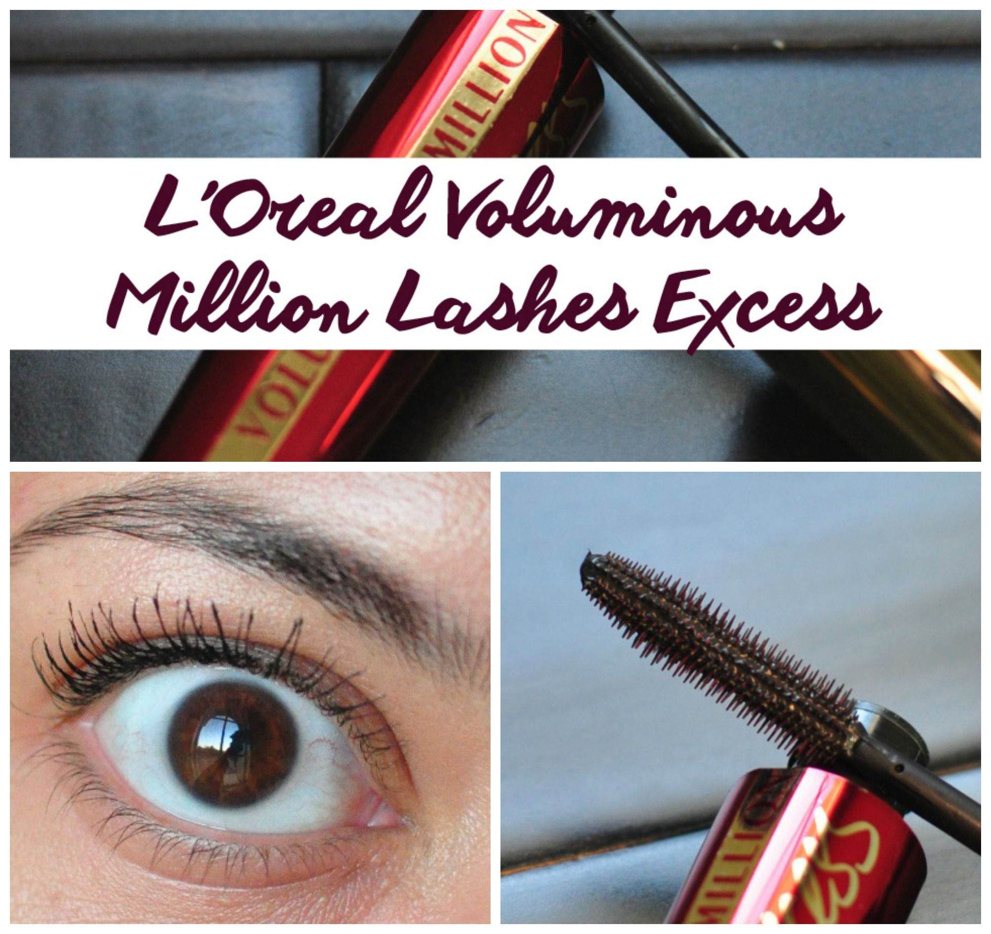 64978e1b31e Review of L'Oreal Voluminous Million Lashes Excess mascara and a comparison  to other L'Oreal Mascaras.