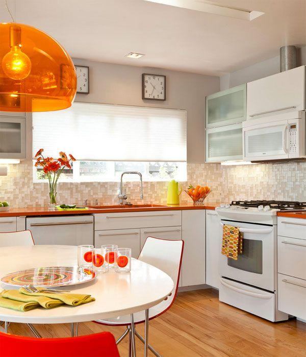Retro Orange Kitchen.