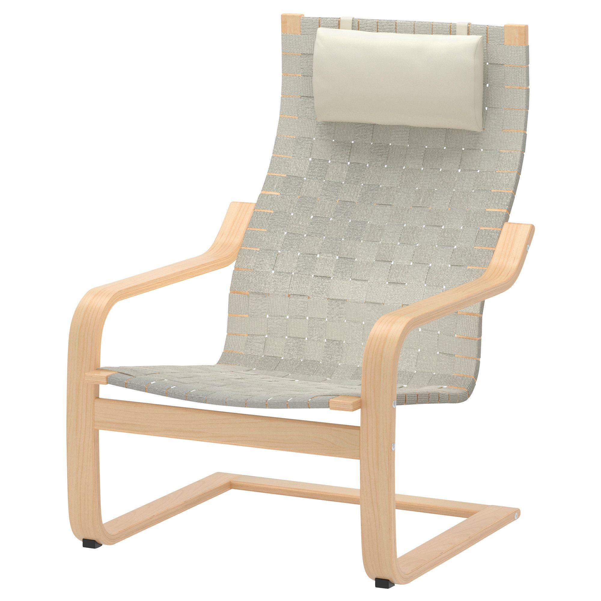 "Knoll Risom inspired IKEA PO""NG Chair birch veneer webbing"