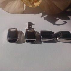 Grand fermoirs clip crochet métal argenté pour lanières 10 mm