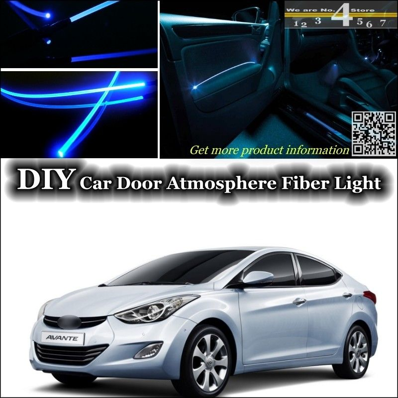 For Hyundai Avante Inokom Elantra Gt I35 Neo Fludic Interior Ambient Light Tuning Atmosphere Fiber Optic Band Lights Door Panel Coches Y Motocicletas