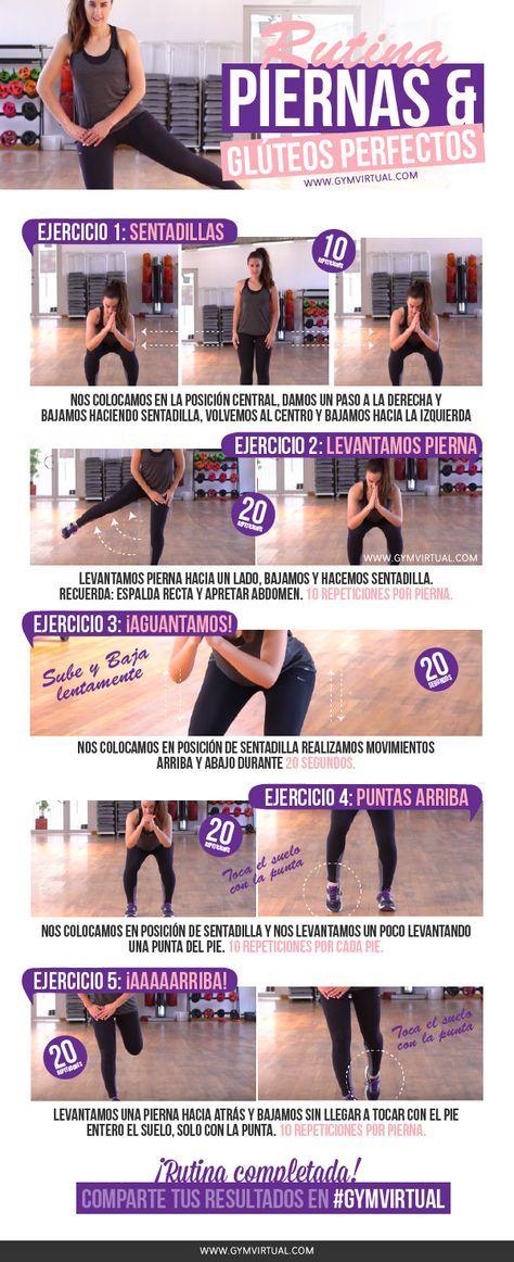 tabla ejercicios piernas en casa