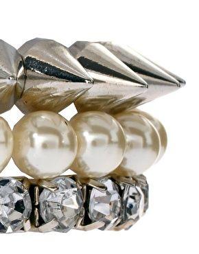 Enlarge ASOS Pearl Spike Stone Bracelet Pack