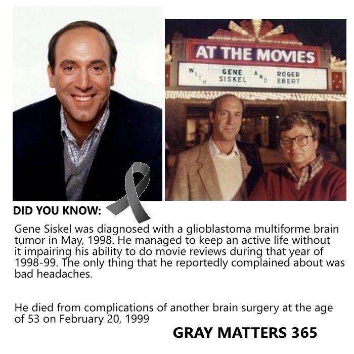Gene Siskel Brain Tumor
