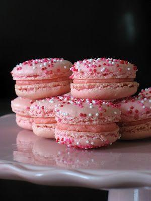 Pink Macarons and White Chocolate