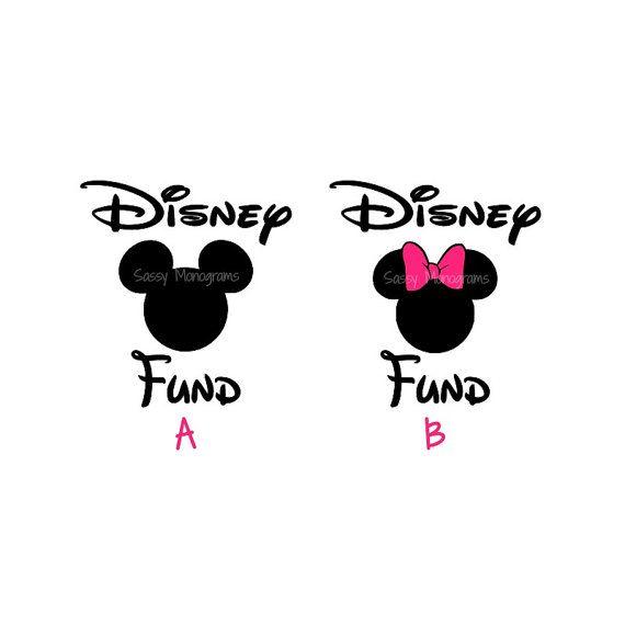 Disney Fund Personalized Vinyl Decal By SassyMonogramAndMore - Disney custom vinyl stickers