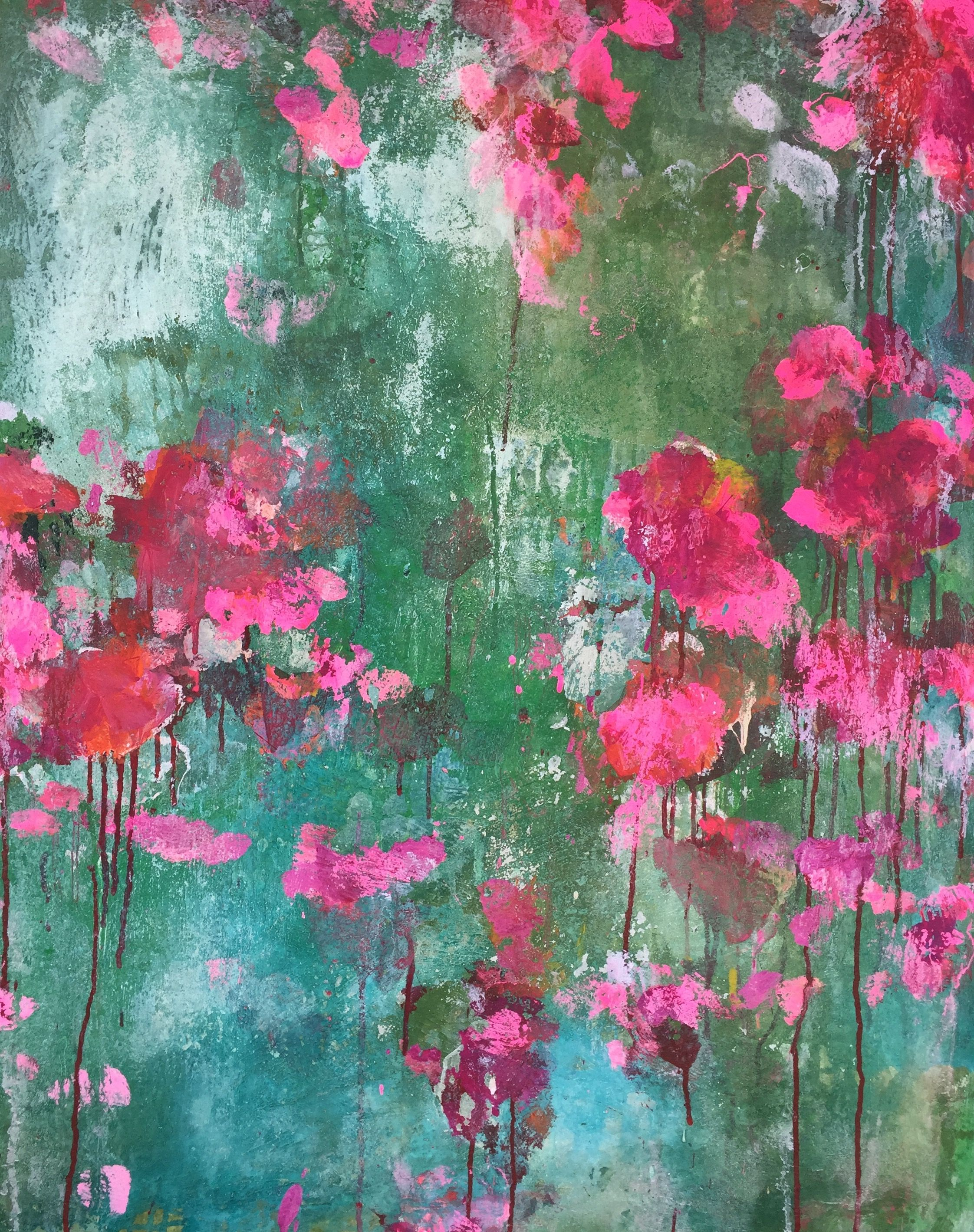 Abstract art by sonja blaess60x80fleurs sauvages