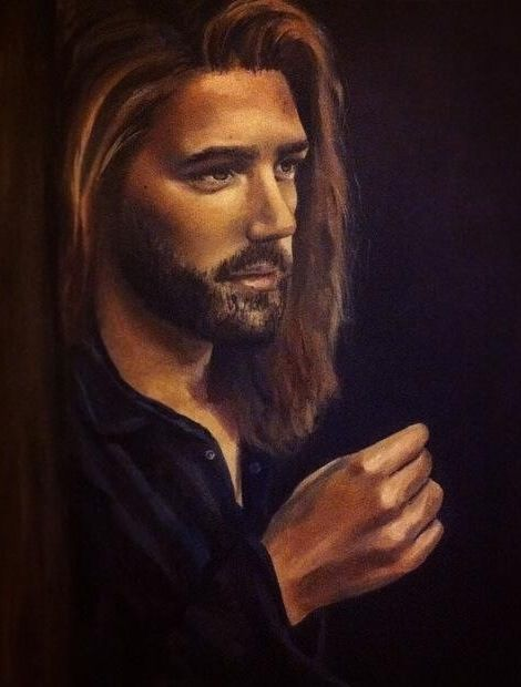 Oil Painting Done On Canvas Dramatic Lighting Portraiture Fine Art Man With Long Hair By Eloise Brown