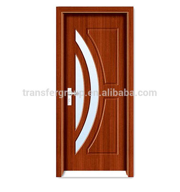 Modern house pvc diseño de la puerta de cristal de madera PV-6267-en ...