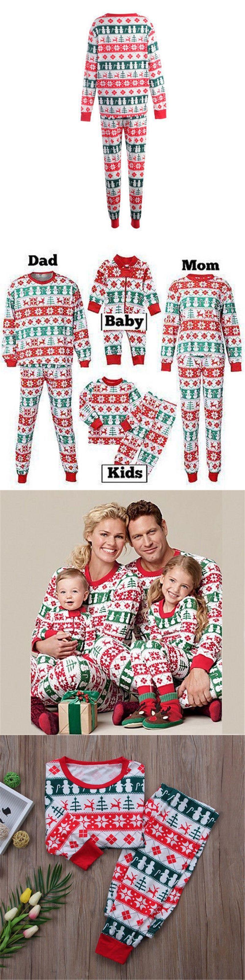 Family Matching Christmas Pajamas Set 2017 New Bebes Xmas Women Men Baby  Kids Sleepwear Nightwear Cute 7b4830ea8