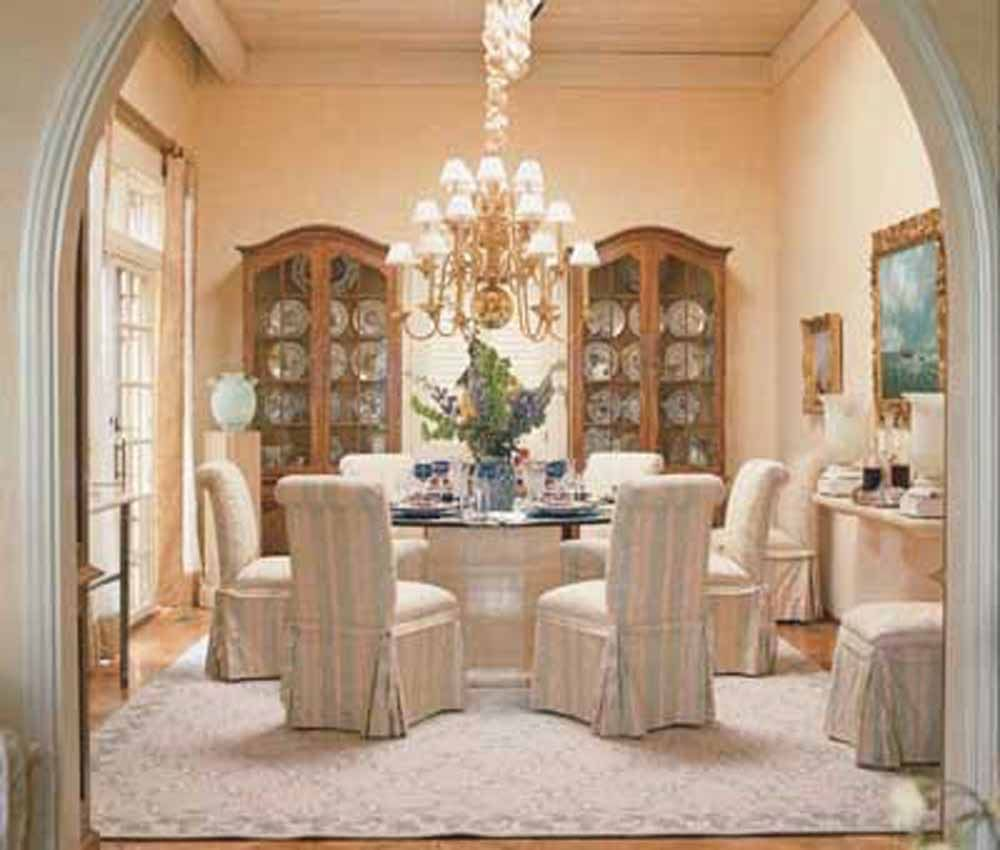 Off White Dining Room Arch Entry