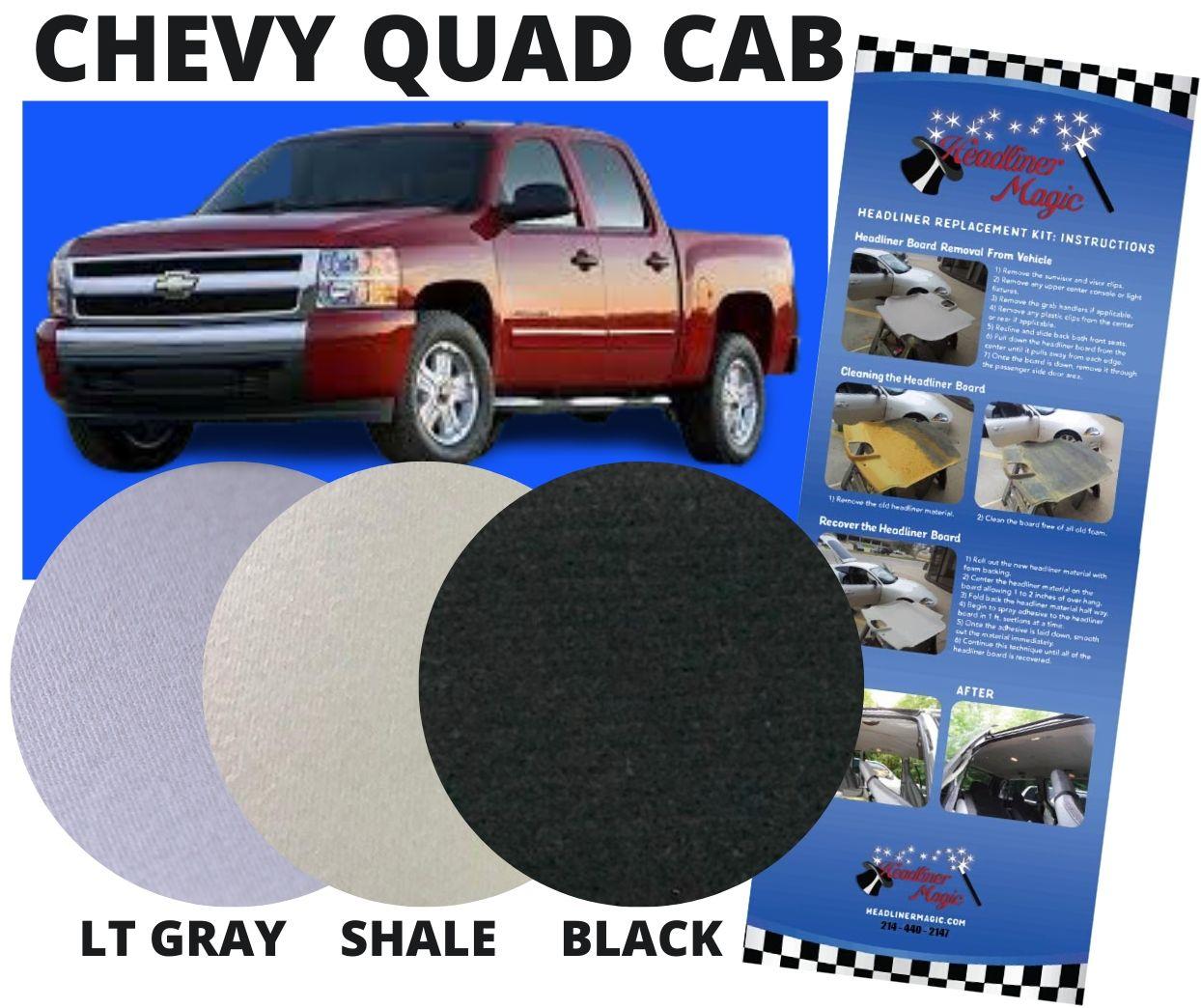 Headliner Replacement for Chevy Silverado Quad Cab Pk