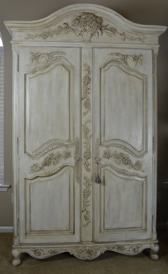 Delicieux Shabby Chic French Armoire / Entertainment Center Ethan Allen Legacy  Collection