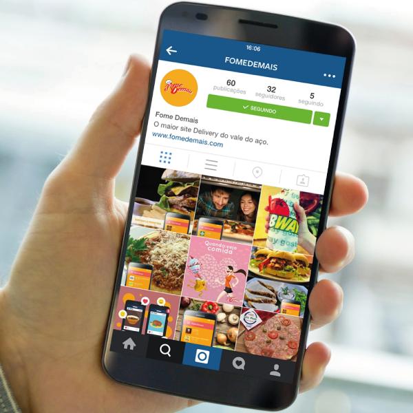 Siga nosso Instagram @FomeDemais e fique por dentro de nossas novidades, por lá, também.  #FomeDemais #Instagram #Delivery
