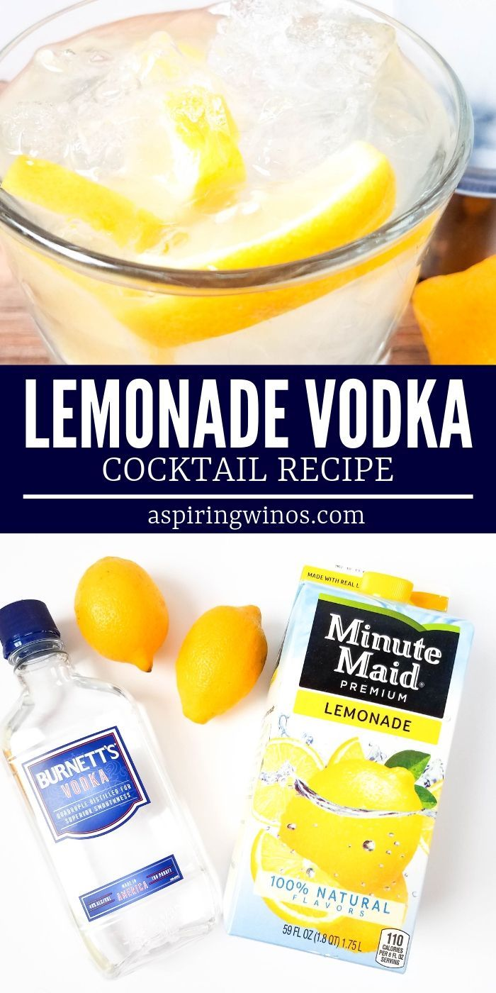 Vodka Lemonade Cocktail for Adults
