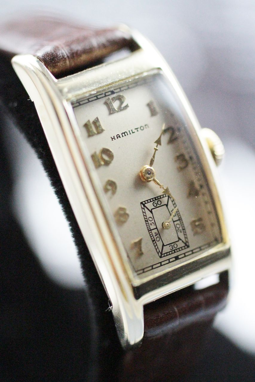 1935 Hamilton Vintage Men's Watch from vintagewatches on Ruby Lane