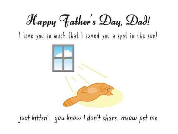Cat fathers day card happy fathers day cat by nomadprintables animal cat fathers day card happy sciox Gallery