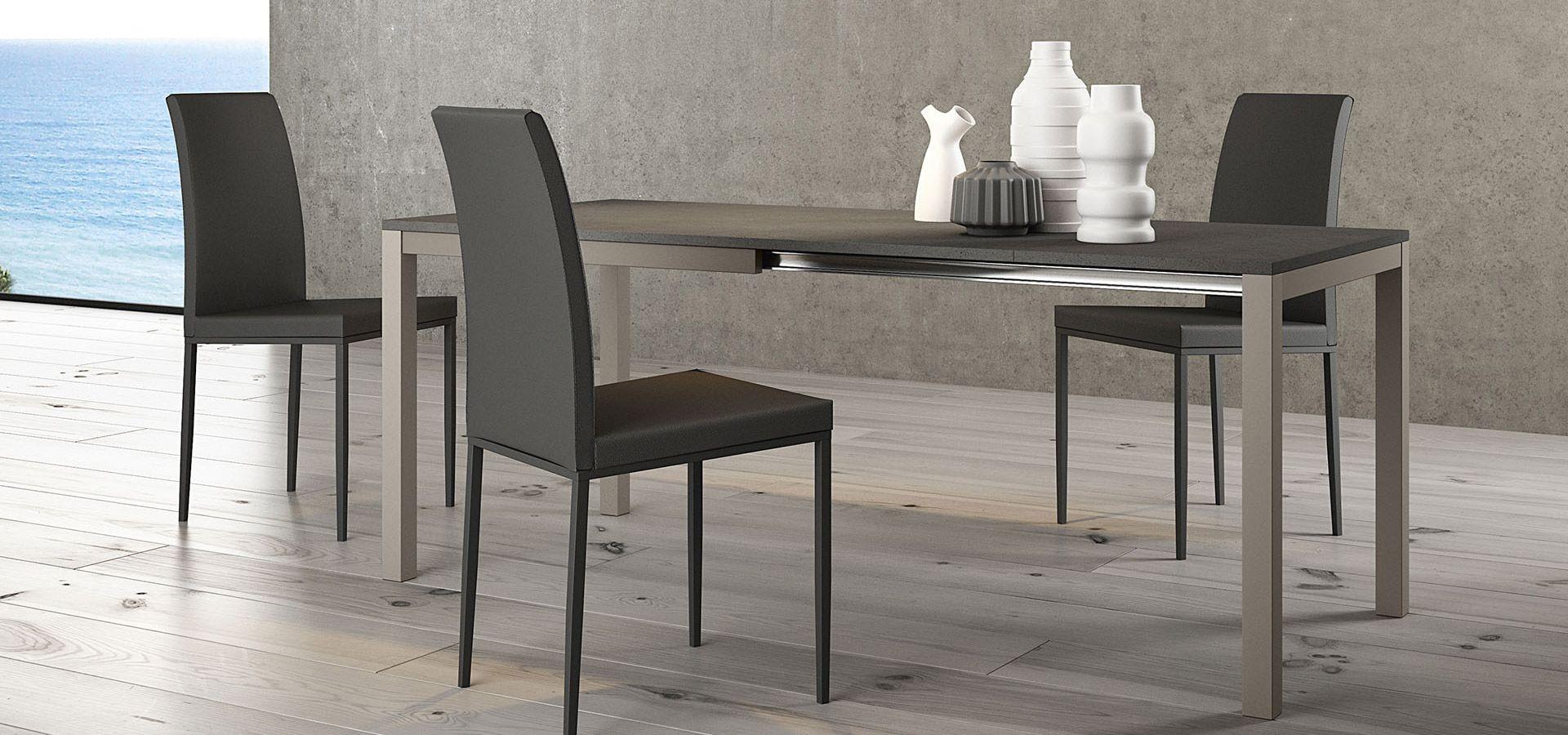 Matrix tavolo allungabile 2 prolunghe da 45 struttura - Tavolo consolle allungabile con prolunghe interne ...