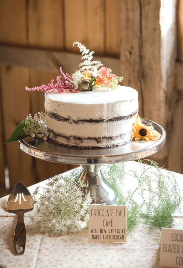 Naked Cake Chocolate Malt With New Hampshire Maple Buttercream Kate Keith Photography