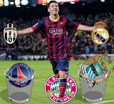 Messi, ya deshizo a tres, ¿Quién sigue? Imagen de mi autoría