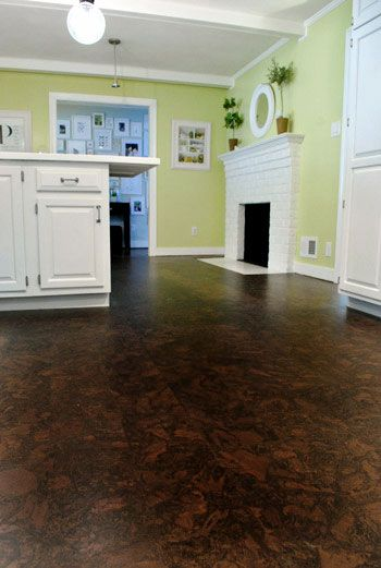 Cork Floors For The Bathroom? Something We Could Do Ourselves Easier Than  The Stained Concrete