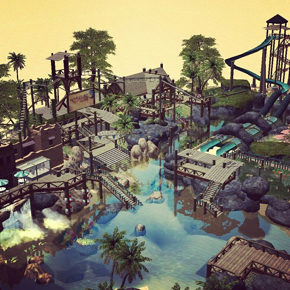 My #rct3 Discovery Cove area #disney | Rollercoaster Tycoon