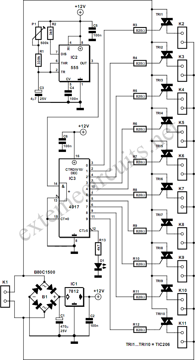 Sequencer Circuit Page 2 Other Esquemas Eletronicos Engenharia Eletronica Electronics Projects