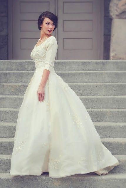 wedding #dress #sleeves #modest #jewels #beading #mormon #lds ...