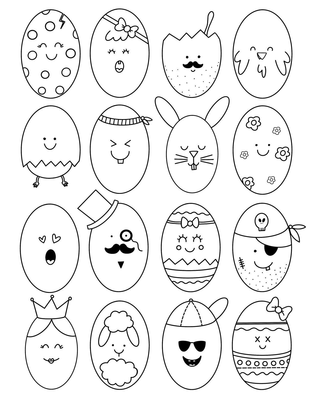 Kleurplaat Pasen Knutselen Pasen Knutselen Voor Pasen Pasen