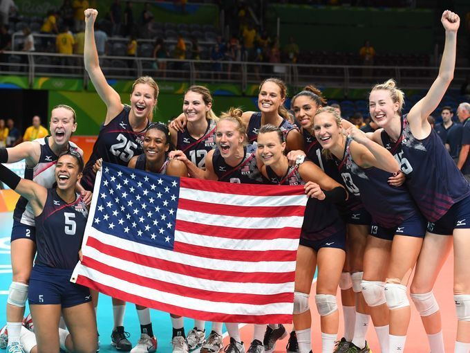 Team Usa Players Captured Bronze In Women S Team Volleyball Summer Olympics 2016 Olympic Volleyball Team Usa
