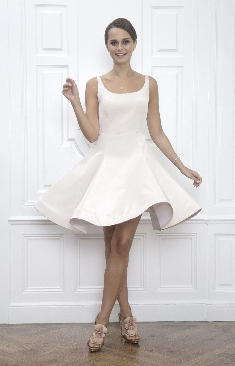 Stella Open Bateau Off White First Dance And Wedding Reception Dress