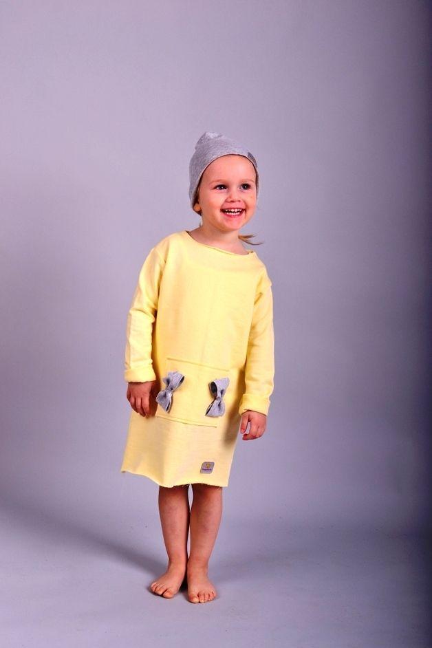 0dd3bacc9b Happy Binko-żółta sukienka z kokardkami - HappyBinko - Sukienki dla  dziewczynek