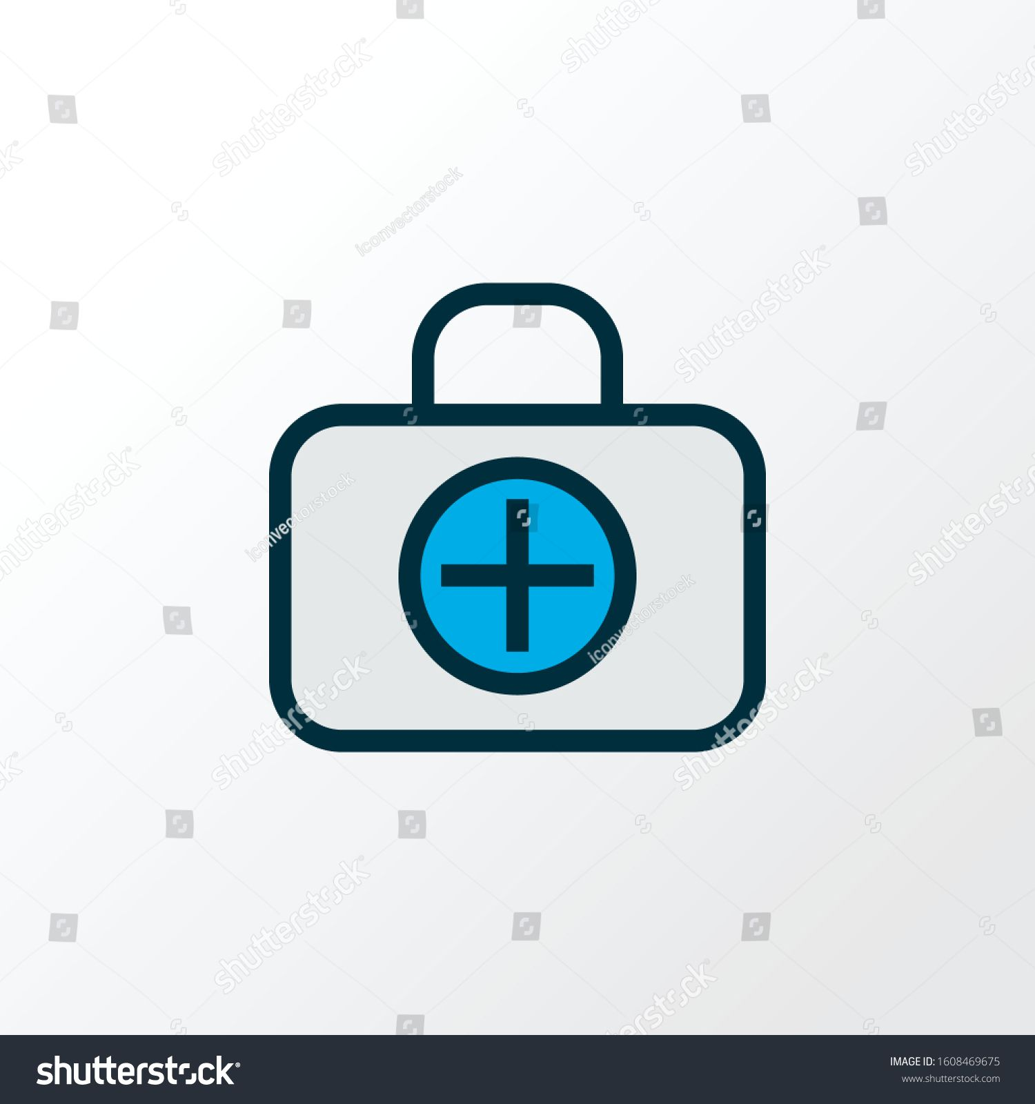Medical Case Icon Colored Line Symbol Premium Quality Isolated First Aid Kit Element In Trendy Style Ad Ad Color Lines Infographic Design Process Symbols