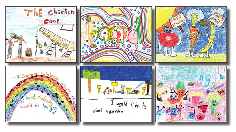 Calendar Drawing For Kids : Kids calendar art contest community food bank of
