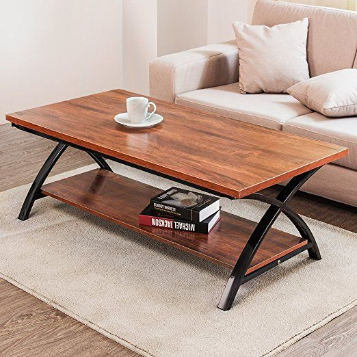 Coffee Table Tribesigns Modern 48 X Shaped Cocktail Table With