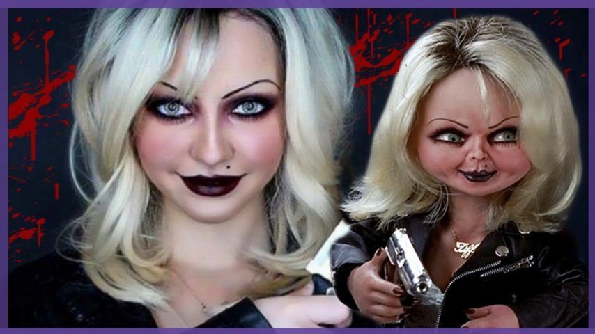 Tiffany – Bride Of Chucky (1998) / by Jbunzie #bridedolls Special makeup expert Jbunzie features Tiffany from Bride Of Chucky (1998). Tiffany, also known as Bride of Chucky and who later becomes the bride doll, resurrects Chucky whose soul is caught up inside the scary doll. Let's begin with re-creating Tiffany's thin, symbolic eyebrows by using Disappearing Purple School Glue Stick by Elmer's and a foundation. Professional False Eyelashes bu KASINA extends your eyelashes just like the b #bridedolls