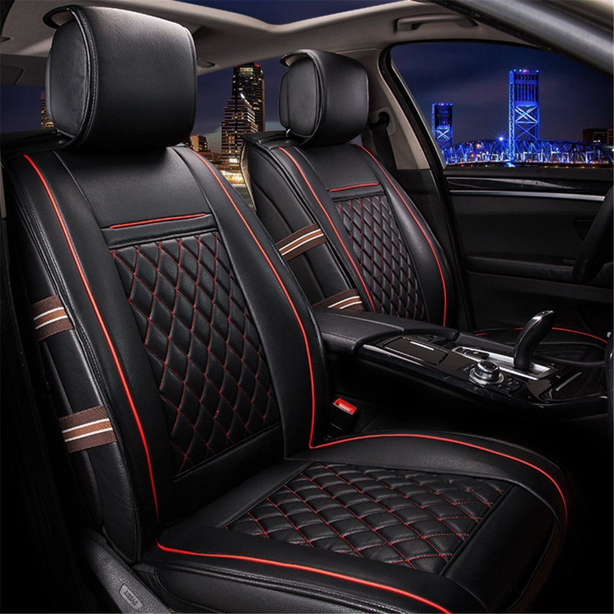 AmazonSmile Easy to Clean PU Leather Car Seat Cushions 5
