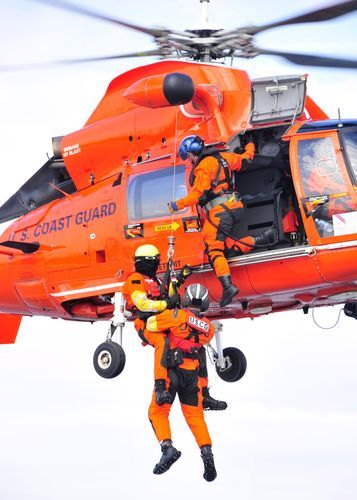 Coast Guard Air Rescue uniform - orange jumpsuit, black