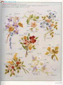 Znalezione Obrazy Dla Zapytania Wzory Do Haftu Plaskiego Japanese Embroidery Embroidery Book Ribbon Embroidery