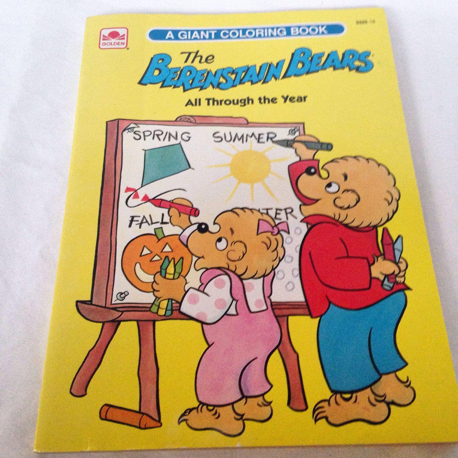 Vintage Berenstain Bears Coloring Book Golden All Through