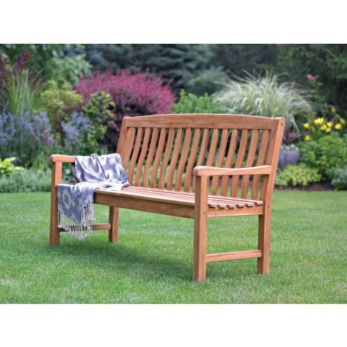Magnificent Living Accents Teak Wooden Park Bench Ace Hardware Frankydiablos Diy Chair Ideas Frankydiabloscom